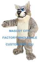 alpha character - Alpha Wolf Mascot Costume Adult Cartoon Character Mascotta Outfit Kit Suit for Halloween Party Carnival SW901