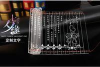 antique sheet glass - Pama Creative Small Wedding Birthday Gift DIY Custom Lettering Bamboo Slip Shape Valentine s Day