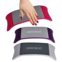 Wholesale REBUNE Nail Art Pillow Hand Holder Cushion Plastic Silicone Cushion Nail Arm Rest Manicure Pro Nail Tools Set