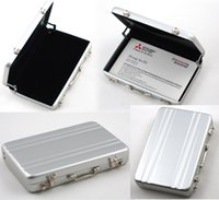 aluminum briefcases - Business Aluminum Metal Password Briefcase Business ID Credit Card Holder Case Box Wallet