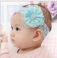 Infantis pérola flor Carneiras menina do laço Headwear crianças bandas Fotografia Bebê recém-nascido Props arco de cabelo acessórios de cabelo do bebê