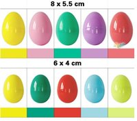 Wholesale Easter eggs Eco friendly plastic buckle eggs size puzzle eggs baby kids gift Easter day DIY decoration Pt0200
