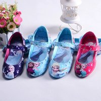 Wholesale 2016 new snow aqueen elsa and anna princes leather shoes eur size