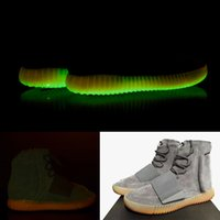 Wholesale Light Grey Gum with Glow In The Dark bottoms Kanye West Shoes new authentic Sneakers Boost Men Sports Casual boots Newest Boost