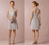 best belts style - Best Style Maid of Honor Dress A Line Cheap Crew Sheer Back Pleats with Belt Short Mini Custom Made Lace Cocktail Bridesmaid Dresses
