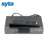 Wholesale For Russia Europe Digital Satellite Receiver Combo DVB T2 S2 HD P DVB T2 TV Box H MPEG Satellite Receiver