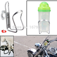 Wholesale Silver Motorcycle Bike Bicycle Water Bottle Holder Rack Cage Aluminum Alloy Stand Suitable For All Kinds Of Bottle order lt no track