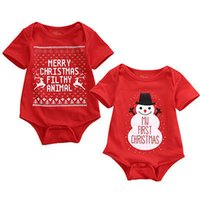 baby boy sunsuit - Newborn Baby Boys Girls Xmas Snowmen My First Christmas Bodysuit Jumpsuit Sunsuit Outfits Set M