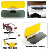 Wholesale Universal Effectively Protect Shading the Sunshine Car Auto Anti Glare Dazzling Goggle Day Night Vision Mirror Shield Sun Visor