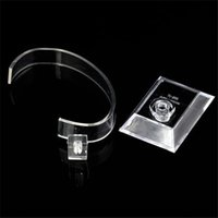Wholesale professional transparent plastic Jewelry Bracelet watch dispaly stand holder show stand for watch