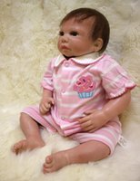 "Cheap 18"" doll reborn silicone newborn baby boy dolls real looking soft touch high quality brand dolls children gift bonecas"