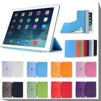 Wholesale Fold Magnetic Smart Cover Matte Back Case For iPad Pro inch iPad Air iPad Mini Folding Case With Auto Sleep Wake