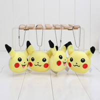 anime rings - Anime Cartoon Poke Center Pikachu Soft Plush Toy Keychain Pendants Stuffed Plush Toy With Ring cm