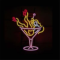 Wholesale COCKTAIL ENJOY GIRL REAL Glass Neon Light Sign Display Pub Club quot x14 quot