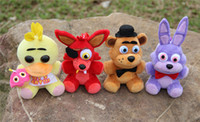 Wholesale FNAF Five Nights At Freddy s Plush pendant set five nights at freddy cm Stuffed Animals toys doll keychain dolls freddys key chain