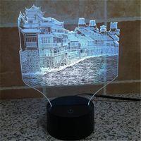 architecture history - Acrylic USB Home Decoration Bulbing LED Lamp China Phoenix City History Architecture Night Light D TD86