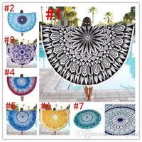 Wholesale Indian Decor Mandala Tapestry Boho polyester Round Beach Throw with Tassel Yoga Mat Wall Hanging Large Shawls cm BKT096