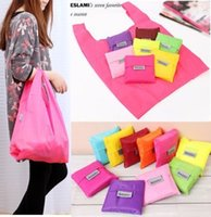 Wholesale BIG BAGGU Foldable Tote Bags Candy Color Storage Eco Reusable Shopping Reusable Shopping Bag For Grocery Beach Laundry