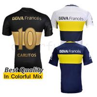 best soccer uniforms - 16 BOCA Jersey Carlos Tevez Morbi Best Quality camisas Riquelme Gago Gigliotti Carlitos Boca Juniors Soccer Jersey Man uniforms