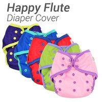 Wholesale Happy Flute Diaper Cover One Size Cloth Diaper Waterproof Breathable PUL Reusable Diaper Covers for Baby Fit kg Baby
