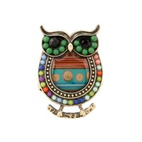 Cluster Rings ancient china fashion - Vintage Punk Ring Owl With Colorful Beads Rings China Jewelry Fashion Cheap Alloy Ring Ancient ZA0015