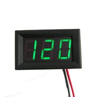 Digital Only DC Others Wholesale-1PC Green LED Digital Voltage Meter Voltmeter Panel AC 70~500V Portable Widely #78471