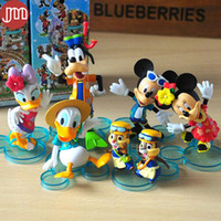 baby goofy - New Mickey Mouse Minnie Donald Duck Goofy Daisy Clubhouse Figures Toys Clubhouse Cake Topper Kids Gift Anime Baby Dolls