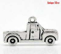 antique pickup trucks - 50PCs Antique Silver Pickup Truck Charm Pendants mmx15mm quot x quot Mr Jewelry