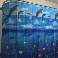 Wholesale 2016 Hot Sale New Fashion Sea World Pattern Family Bathroom Shower Curtain Simple Polyester Ring Pull x cm