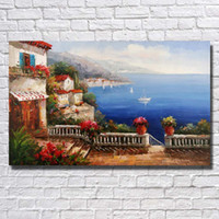 best framed canvas art - Sea Landscape Style Decorative Pictures Living Room Wall Decor Hang Wall Painting Best Gift Art No Framed