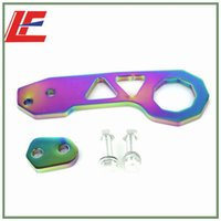 Wholesale Details about Neo Chrome JM CNC Aluminum Rear Tow Racing Bumper Hook Towing hook