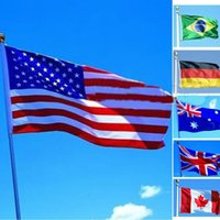 Wholesale 90 cm ft America USA nation flag Russian France UK Russia Nation Mexico Canada Italy spain Australia flag banner