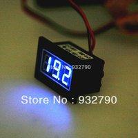 Оптово-DC 15-120V синий светодиод автомобиля тестер напряжения Цифровой вольтметр приборная панель Водонепроницаемый 15-20mA Разрешение 1% + 1 цифра