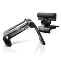 TV Clip ajustable del sostenedor del montaje del soporte del muelle para Sony PS3 Move Eye tipos de conector de cámara de televisión de antena