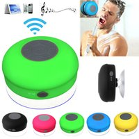 Cheap Mini Portable Waterproof Wireless Bluetooth Speaker Shower Car Handsfree Receive Call & Music Suction Phone Mic Free DHL