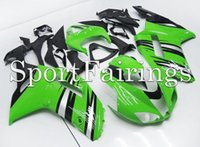 Wholesale Tiling Fit Kawasaki ZX6R ZX R years Sportbike ABS Motorcycle Fairing Kit Body Cowling Green Black New