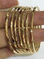 Bracelet en or jaune massif de 18k 7 jours (1sets) Diamant mignon 22.08Grammes 51mm
