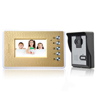 Wholesale 4 Inch LCD Color Video Intercom Monitor Wired Video Door Phone System Doorbell IR Camera Night Vision for Security Home F1635J