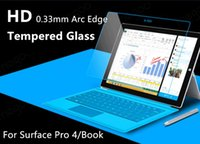 Wholesale 9H Explosion Proof Premium Tempered Glass Screen Protector Film Guard For Microsoft Tablet Surface pro4 Book mm Arc Edge Retail Package