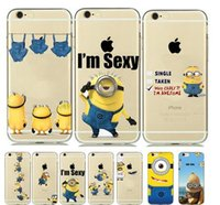 minions case - New Designs Funny Despicable Me Minion Case for capinhas iphone s Plus C S SE fundas Transparent Soft Clear Gel holster