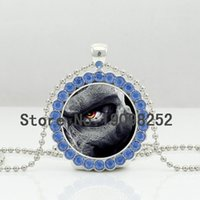 american humanities - New Gothic Eye Necklace Gothic Eye Crystal Pendant Humanity Jewelry Glass Cabochon Crystal Necklace