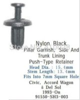 accord wagon - auto clip fastener for pillar garnish side and trunk lining push type retainer for civic accord wagon and del sol