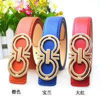 Wholesale New brand hot sale designer kids PU leather belts children fashion letters buckle belt girls boys Leisure waist strap