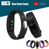 Wholesale ID107 Smart Bracelet Smart Fitness Band Heart Rate Monitor Wristband Fitness Tracker for iPhone Samsung Smartband PK Mi Band