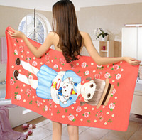 big beach towels - Big size cm beach towel adult children soft absorbent towel swimming animals and plants cartoon flag coins towel