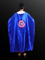 Wholesale Adult Costumes Cosplay superhero The Avengers cape capes customize logo super hero cm cm Double layer Adult cape styles