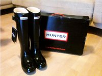 Wholesale NEW Ms glossy Hunter Boots Top Quality Rainboots Hunter Wellies Boots Women Boots Outdoor Boots