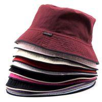 Precio de Sombreros casual para los hombres-Al por mayor y al por menor! Pesca Hombres Mujeres unisex de algodón del sombrero del cubo del lado del doble de Boonie Bush gorra con visera de Sun