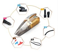 high power vacuum - Newest Portable Car Vacuum Cleaner V W IN High Power Wet Dry Dual use Super Suction Dust Buster With Inflatable Pump Free Shippin