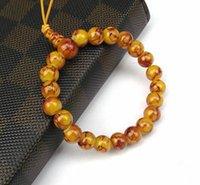 beaded glass ornaments - New Hot Imitation Ggate Glass Buddha Buddhist Prayer Beads Tibet Bracelet Mala Bangle Wrist Ornament fei